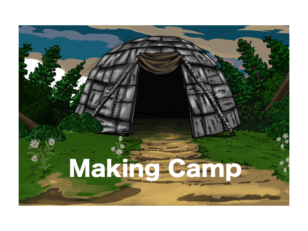 Problem-solving strategy - visualization. Answer questions and earn a wigwam, from the game, Making Camp