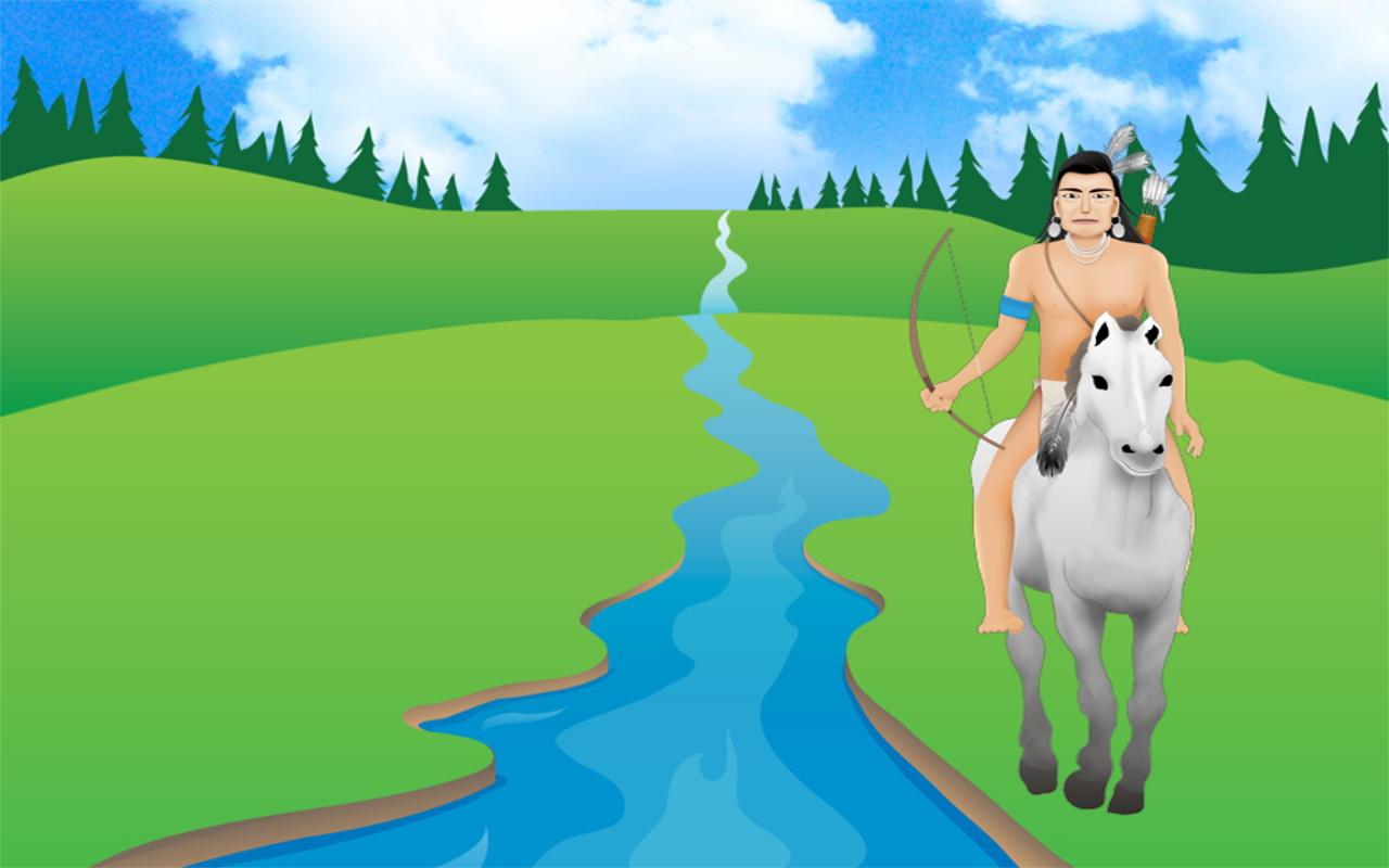 Dakota hunter on buffalo pony