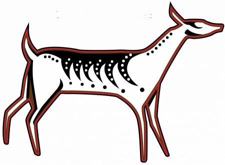 Deer totem from Making Camp Ojibwe