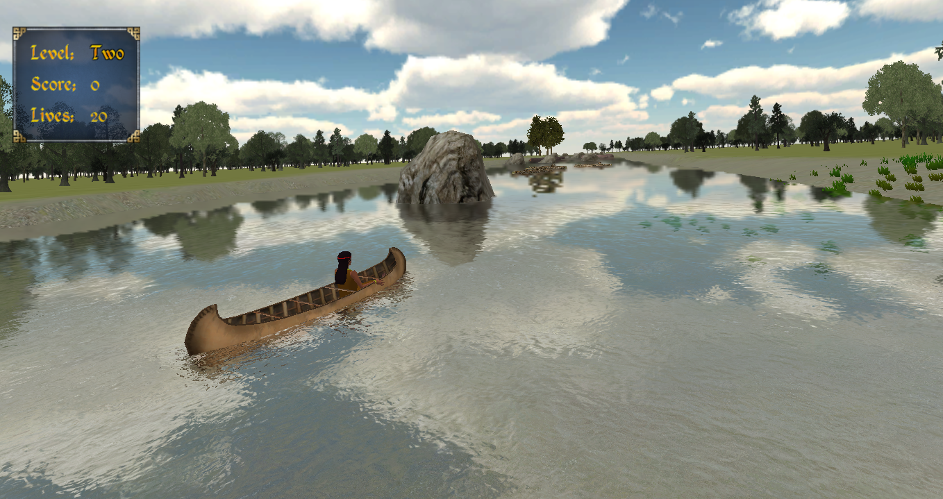 Canoeing in Fish Lake fractions game