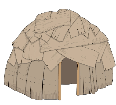 Wigwam from MakinG Camp Ojibwe